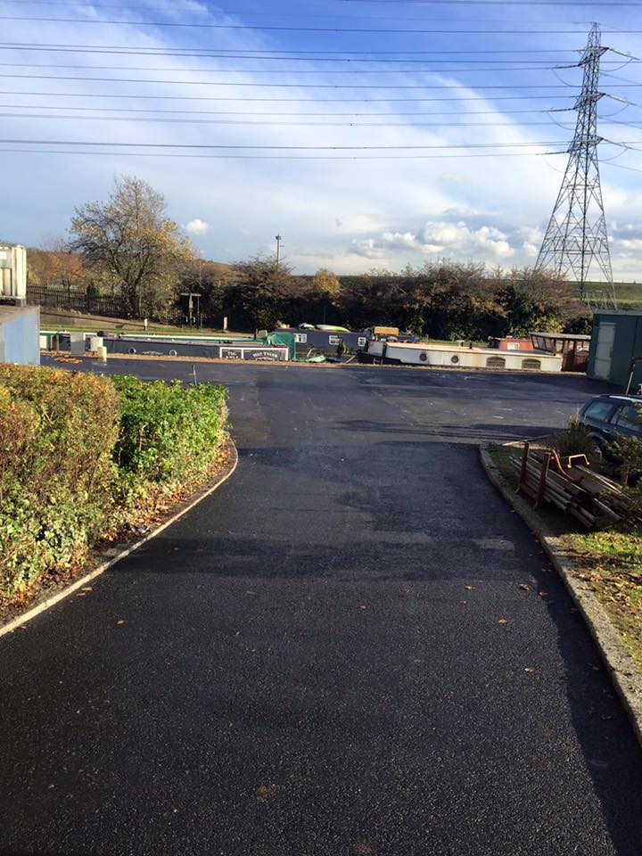 Road leading to car park in Enfield 2